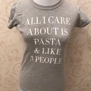 Gray tee shirt. Size S